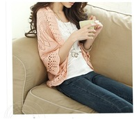 Summer cutout cardigan thin sweater loose batwing sleeve air conditioning shirt sun protection shirt small cape female