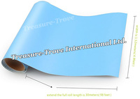 High Quality 1.52*30M Light Blue Matte Vinyl Car Wrapping Film with  Air Drain PVC Material