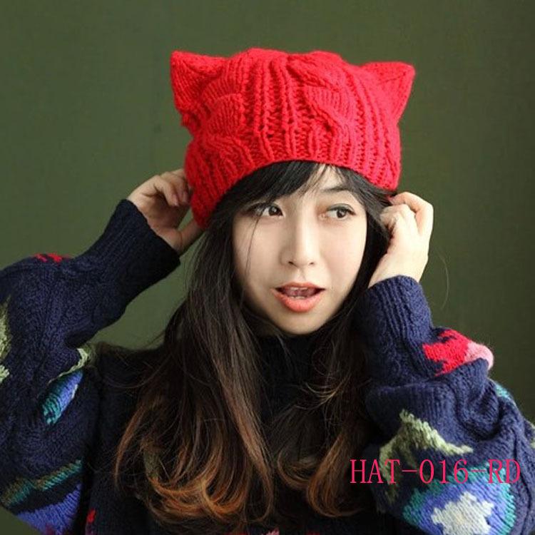 Knitting Pattern Hat With Cat Ears : Popular Cat Ear Beanie Aliexpress