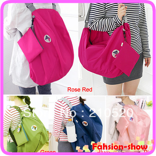 Folding Reusable Eco Shopping Multifunction Travel Shoulder Bag Tote Handbag Schoolbag Colors(China (Mainland))