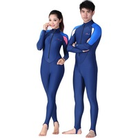 men's overalls diving suit women snorkeling clothing sun protective dress thin Lycra wetsuits swimming water sports 715