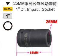 "SunRed BESTIR taiwan brand metric chromemolybdenum steel 25mm 1"" dr. 6pt deep socket  NO.64625 freeshipping"