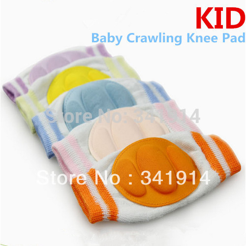 1 Pair New Kid Baby Crawling Knee Pad Toddler Elbow P