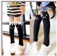 [Free Shipping] 100% cotton heelless baby sock, high-quality knee-socks child sock, fashion girl sock 6pcs = 3pair/lot