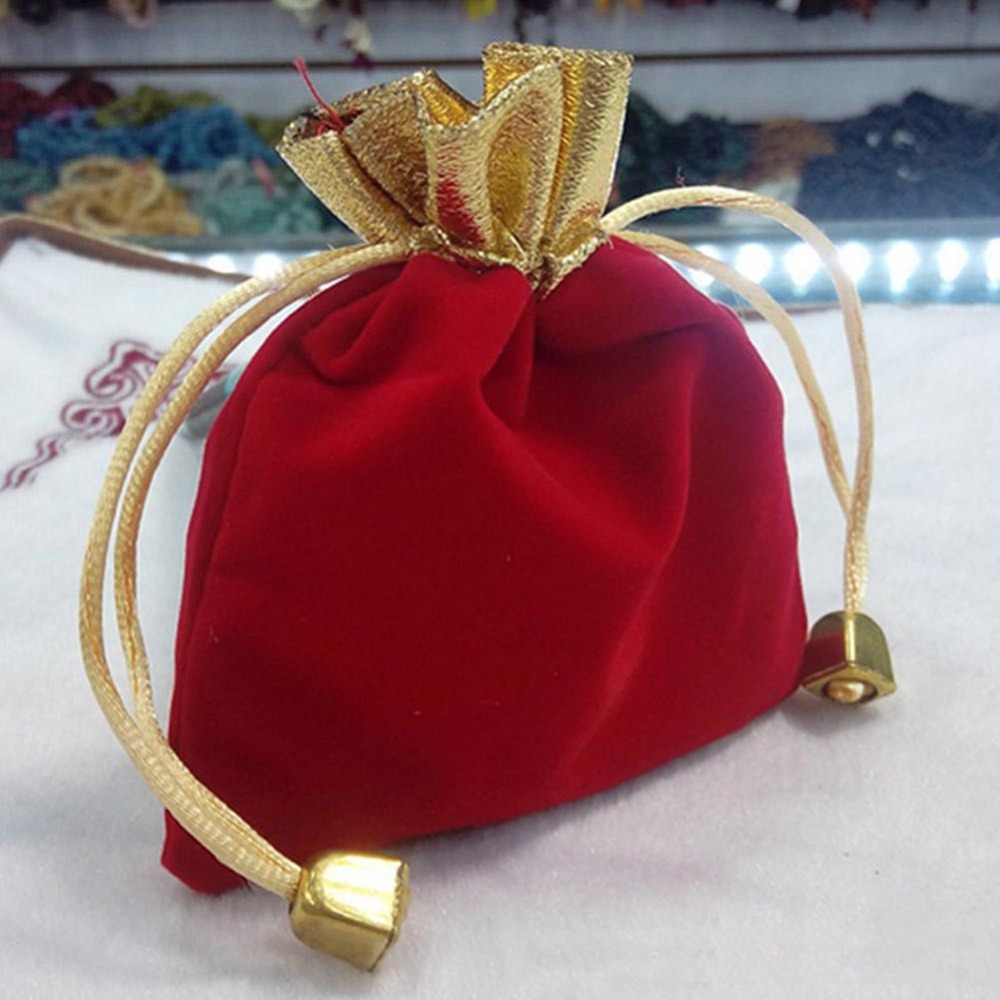 Hot Sale 50pcs Velvet Drawstring Pouches Jewelry Gift Bags 9cmx12cm HG-04377(China (Mainland))