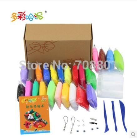 24 color non-toxic environmental colour play dough clay mud kids toy