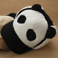 Lei feng cap female winter thermal ear  female dome cotton hat for Russian cute panda warm cap with earmuff