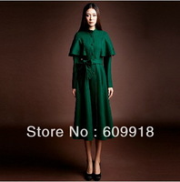 Free Shipping New  Women Woolen Jacket  Long Sections Collar Woolen Coat  Wool Overcoat Slim Thick Coat