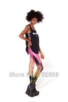 Free shipping black milk leggings skye neon print for women's girl's winter spring autumn pencil pants high elasticity knitted