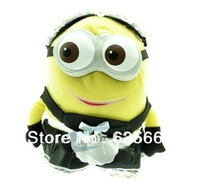 Despicable me/god steal milk dad children cartoon toys, plush dolls 3D Eye Featuring Minion yellow soybeans maid smile