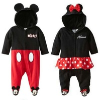 baby clothing   New lovely shape Mickey Minnie Romper Children   Free Shipping