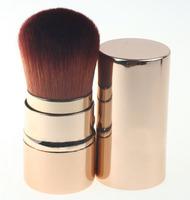 Makeup Powder Retractable Brush, Metal Handle, 10pcs/Lot