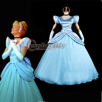 New Arrival Cinderella Dress Cartoon Cosplay Costume For Christmas