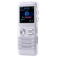 Digital Voice Recorder 8GB Dual-core Stereo Noise Reduction Function Dictaphone K6 White