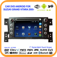 100% Pure Android Car DVD for SUZUKI GRAND VITARA 2005- with wifi 3G DVD GPS BT RADIO DVB-T/ISDB(opt) free shipping