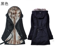 free shipping 2013 new arrive autumn and winter wadded jacket female outerwear wool liner thickening women cotton-padded