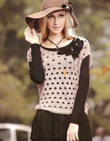 2013 autumn fashion flowers chiffon twinset sweater 4 136198