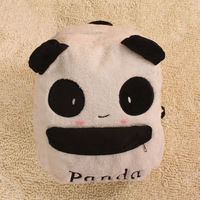 Hot-selling plush panda backpack school bag cartoon student bag female bag