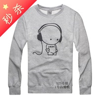 2013 autumn pullover sweatshirt male print o-neck spring outerwear men's clothing easy care teenage casual