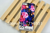 Cut  joyrich LOS ANGELES Flowers PC+Leather case cover for Iphone 4/4S/5/5G/5S