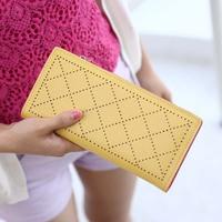 Wallet female long zipper design cutout color block day clutch 2013 hot-selling purse wallet  purse women wallet women