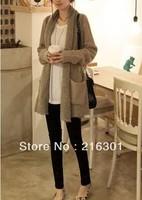 Women Korean yards sweater wealthy fat mm long section of loose sweater knit cardigan wholesale plush