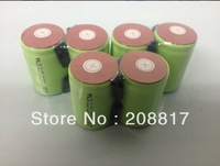free  DHL/FEDEX shipping   500pcs/lot 10C discharge rate 1300mAh SubC SC NiCD rechargeable cell with solder tags