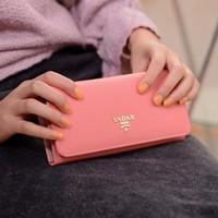 2013 lycidas ' fashion cross long design women's wallet bags  purse women wallet women