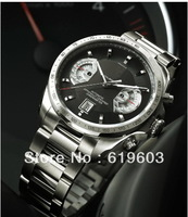 fashion Men Bracelets Black Stainless Steel Watch Grand Calibre 17 rs Mens Watches Top Brand Luxury Automatic Mechanical Man