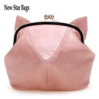 2014  women's handbag the trend of casual all-match girl one shoulder cross-body small lovely bag cat bag T43A3