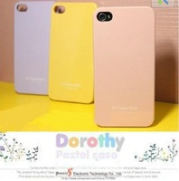 Ultra-thin candy color case for iphone5 5s for iphone 4 4S protective case for I5 I4 cell phone case free shipping