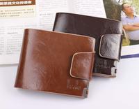 Men short design genuine leather wallet quality leather hasp wallet soft  men wallets wallet men