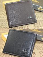 wallet men cowhide wallet short design genuine leather
