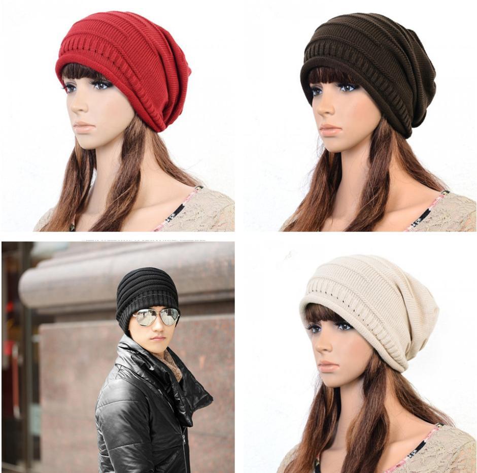 Fashion Women Men Hip-Hop Dancing Skiing Warm Plicate Baggy Beanie Hat Cap Free Shipping(China (Mainland))