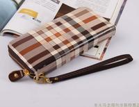 Belt portable women's belt plaid stripe day clutch Women long design fashion wallet  men wallets wallet men