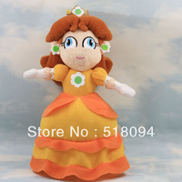 "50pcs/lot EMS Free Shipping Super Mario Bros Princess Daisy Stuffed Toy Plush Doll  girls doll 9""23CM SMPD081"