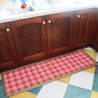 100% cotton plaid kitchen mat slip-resistant absorbent mats bathroom door mat doormat carpet