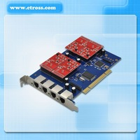 TDM410P Analog Asterisk PCI Voice Card with 4 FXS or 4 FXO module (optional)