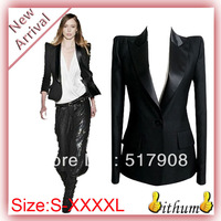 New Women's blazer outerwear shoulder pads suit plus size Women's Clothing business Suits With black women blazers and jackets