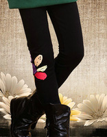 Winter 2013 Korean wild sunflowers plus thick velvet trousers baby leggings  for girls  warm leggings	wholesale