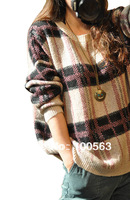 WS1053 Free Shipping New fashion autumn casual loose knit batwing sleeve sweater women tops blouse