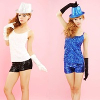 Stage clothes dance clothes costume small paillette vest costume performance sexy fashion wear