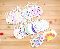 Free shipping! Layer cotton baby bib/saliva towel babies Wipes Burp Cloth Scarf infant bib 10pcs/lot