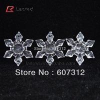 Free Shipping Fashion 100PCS 28mm Arcylic Snow Flake Christmas Decoration Home Decor