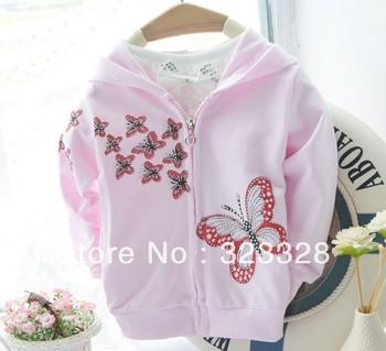 Retail Стиль hoodied girls hoodies Sweatрубашка Детский clothes spring autumn coats ...