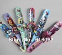factory price Free shipping 5pcs/lot Monster High cartoon slap watches,Cartoon watch,best gift to children