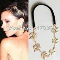 Min.order is $10 (mix order)  Chic Elegant Women Girls Retro Vintage Hollow Leaf Elastic Hair Band Headband ZYJ62
