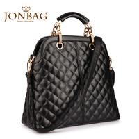 2013 women's handbag dimond plaid women's handbag black bags large the trend female