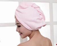 Girls Women Lady's Magic Hair Drying Towel/Hat/Cap Quick Dry Bath Towel