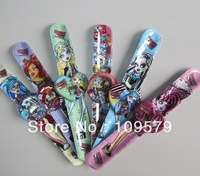 in stock Free shipping 10pcs/lot lovely Monster High cartoon slap watches,Cartoon watch,best gift to children